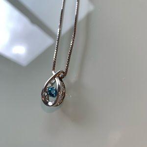 Jewelry - Blue Topaz Silver Necklace